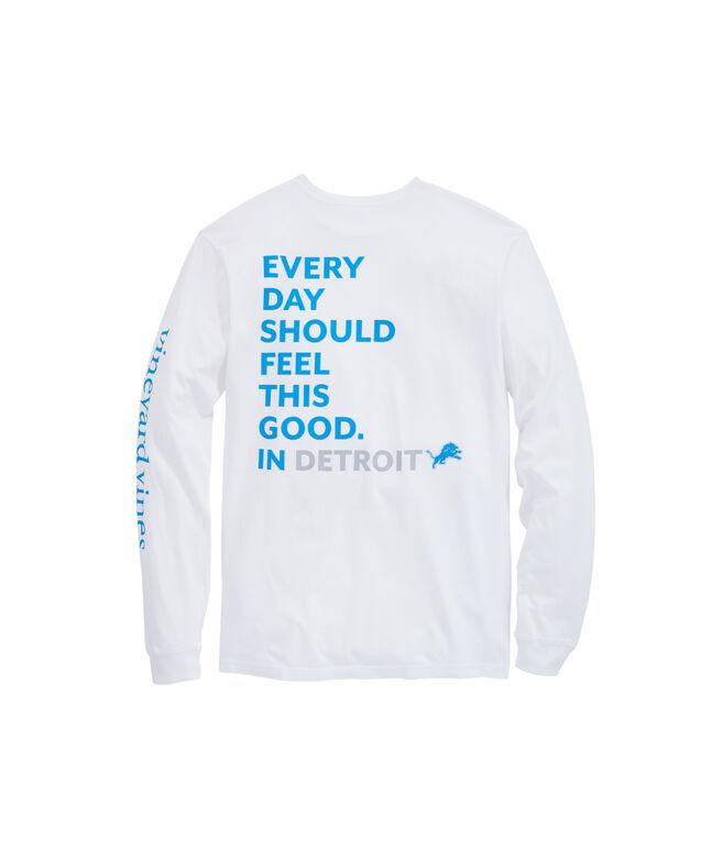 Detroit Lions Long-Sleeve EDSFTG T-Shirt
