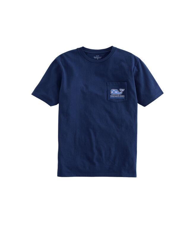 Kids Short-Sleeve Hanukkah Whale Fill Pocket T-Shirt