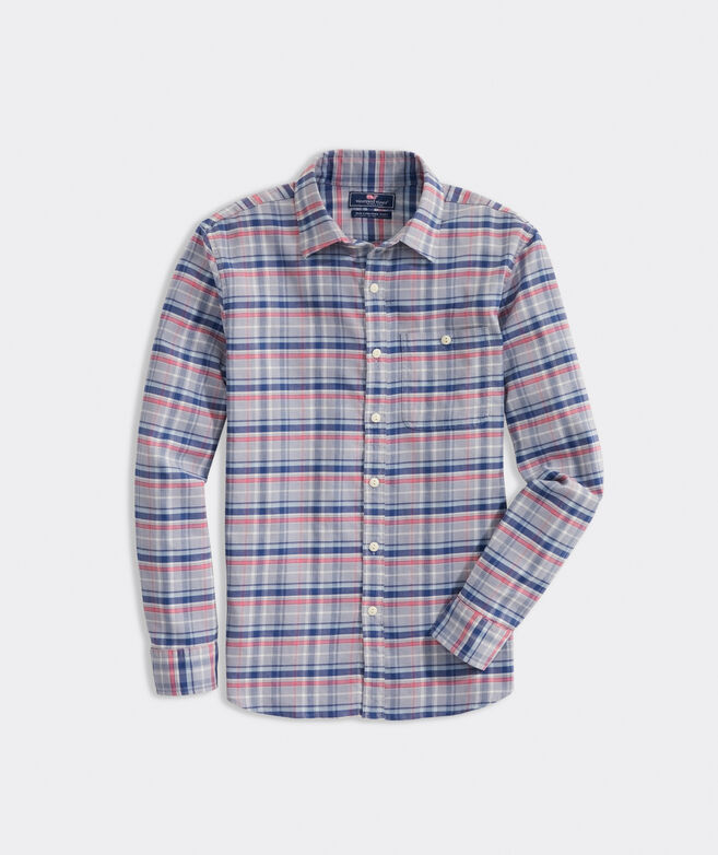 Slim Fit Plaid Shirt in Island Twill