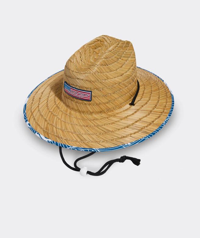 Rough Waters Americana Logo Straw Lifeguard Hat