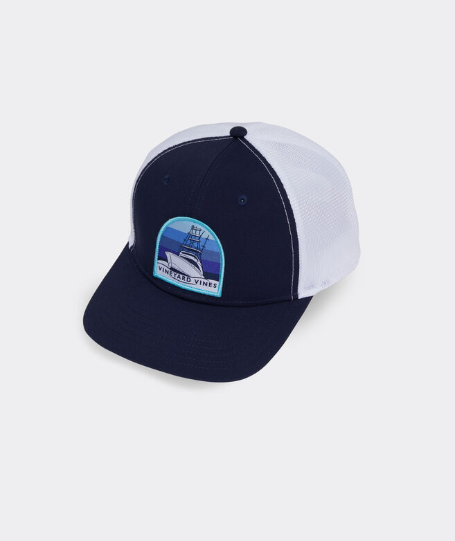 Sunset Cruise Patch Performance Trucker Hat