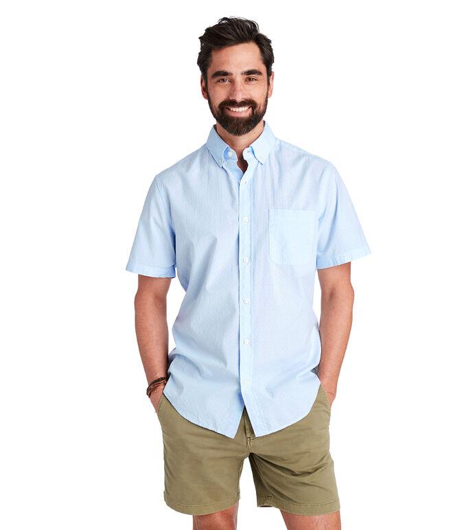 Short-Sleeve Wavine Dobby Slim Murray Shirt