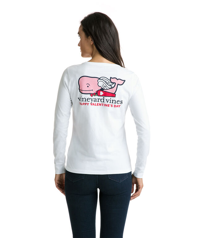 Long-Sleeve Cupid Whale Pocket Tee