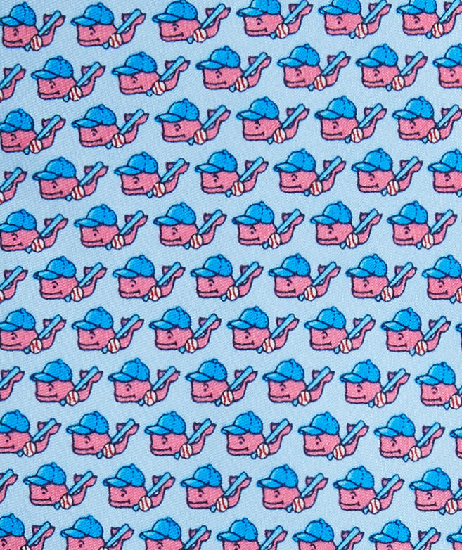 Boys Baseball Character Whale Tie