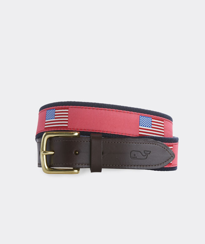 American Flags Canvas Club Belt