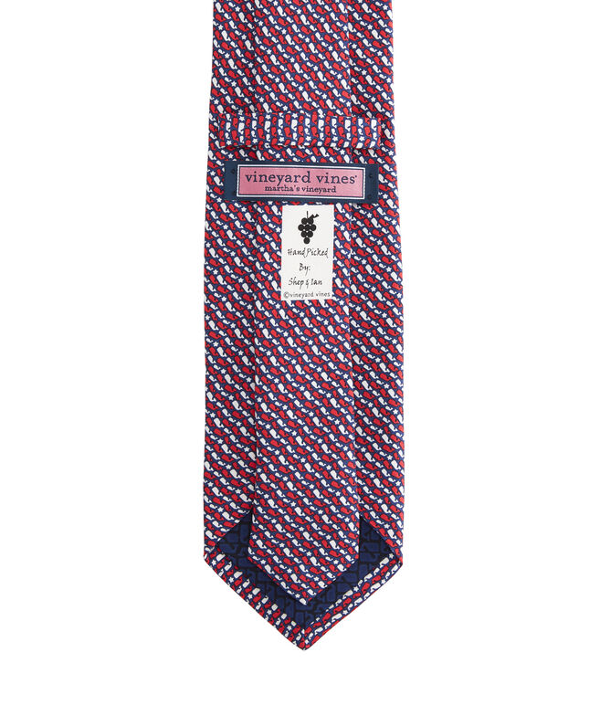 Boys Whale Stars & Stripes Printed Tie