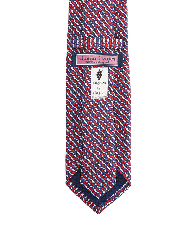 Whale Stars & Stripes Printed Tie
