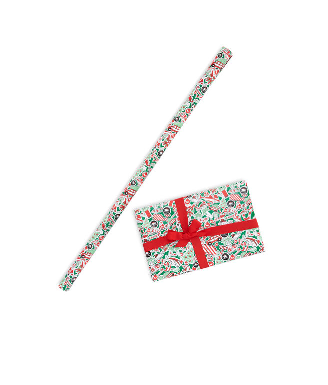 Christmas Sticker Wrapping Paper