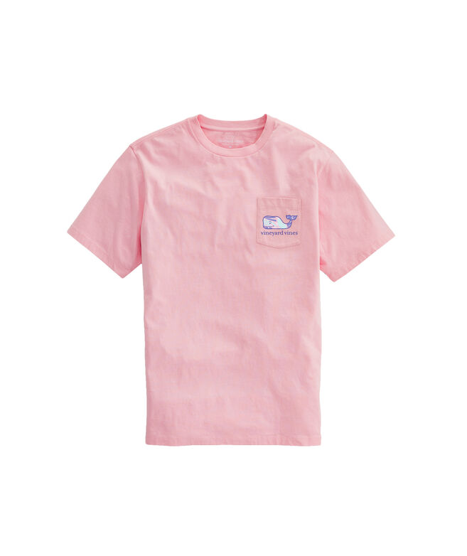 OUTLET Women's Island Palms Whale Fill Short-Sleeve Pocket Tee