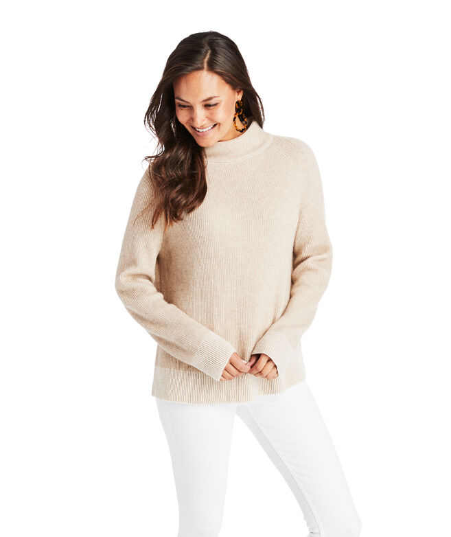 Colorblock Ribbed Cashmere Sweater
