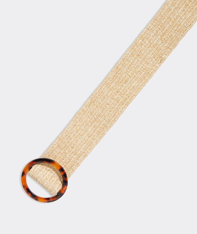 Stretch Straw Acrylic Buckle Belt