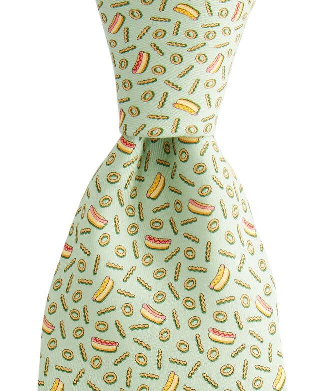 Hot Dog & Fries Printed Tie