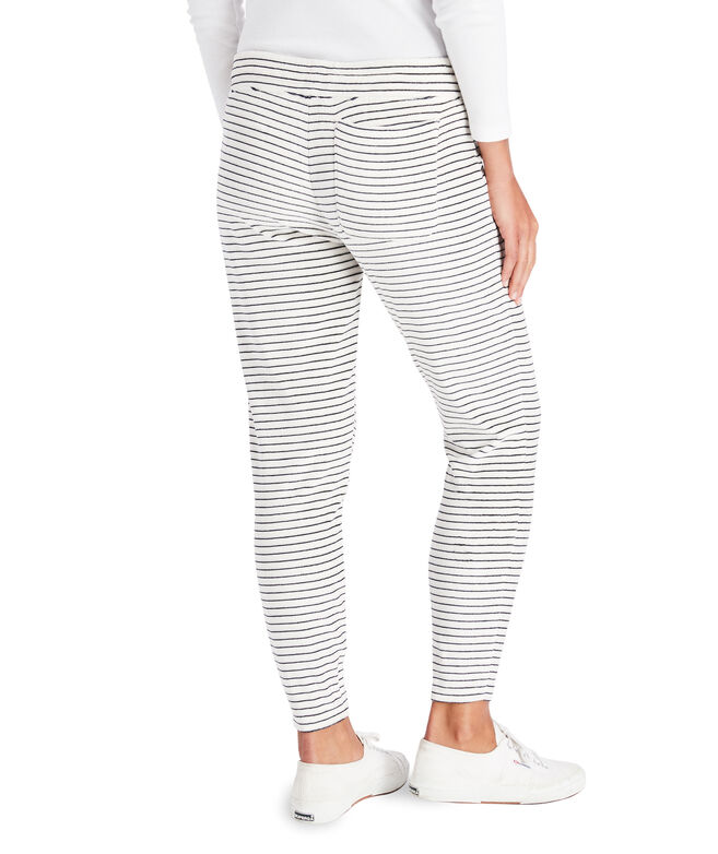 Striped Velour Joggers