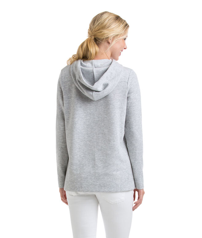 Double Faced Heathered Relaxed Hoodie Shep Shirt