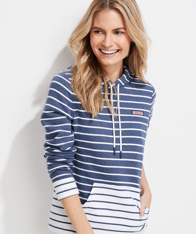 Mixed Stripe Hoodie Shep Shirt