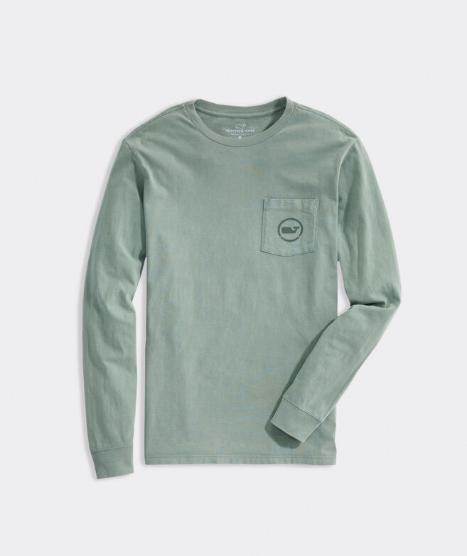 Garment Dyed Whale Dot Long-Sleeve Pocket Tee