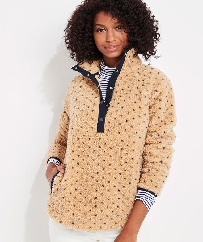 Birdseye Sherpa Snap-Placket Pullover