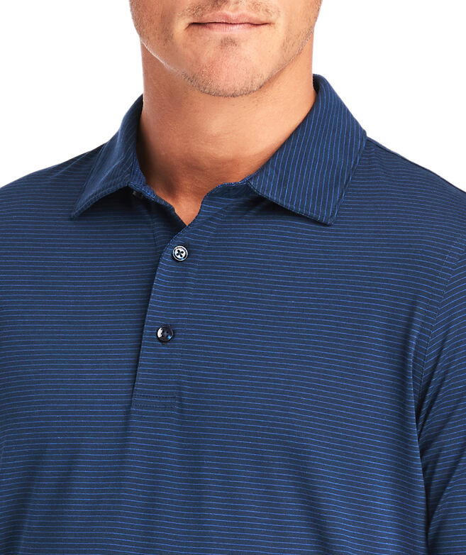 Carmel Wide Stripe Long-Sleeve Polo
