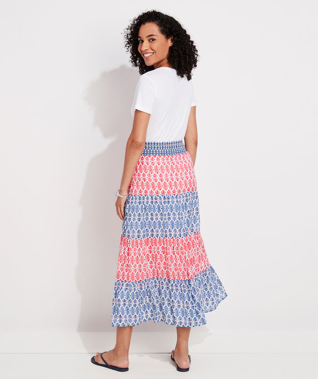 Block Print Tiered Skirt