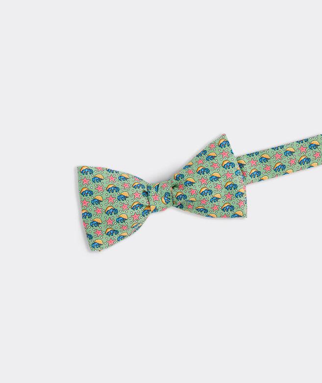 Hermit Crab & Starfish Printed Bow Tie