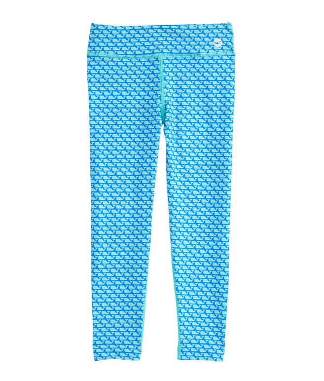Girls All Over Whale Performance Leggings