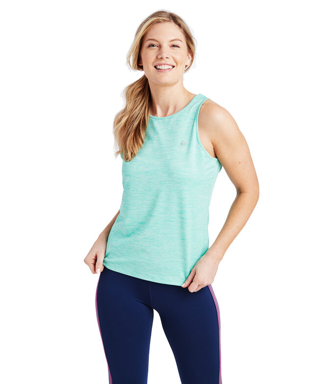 Heathered Sport Peek-A-Boo Tank