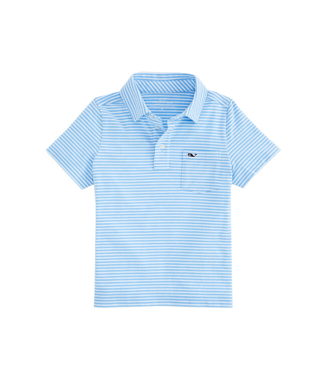 Boys Vineyard Stripe Edgartown Polo