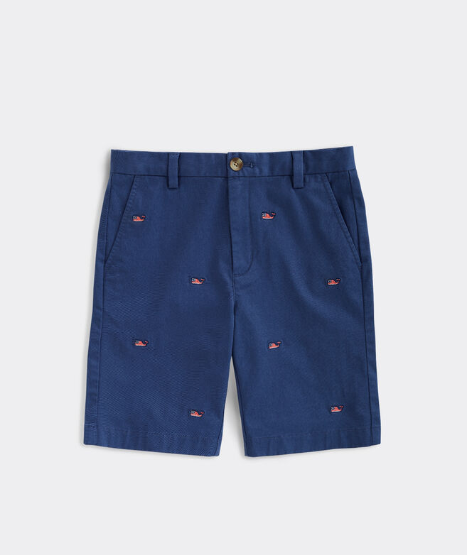 Boys' USA Whale Embroidered Breaker Shorts
