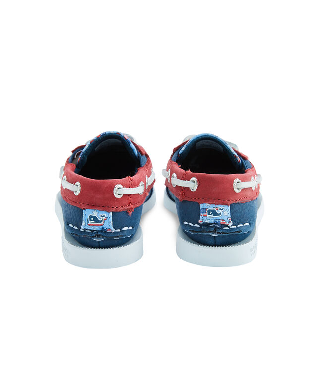 Little Kids Sperry x vineyard vines Americana Patchwork Authentic Original Boat Shoe