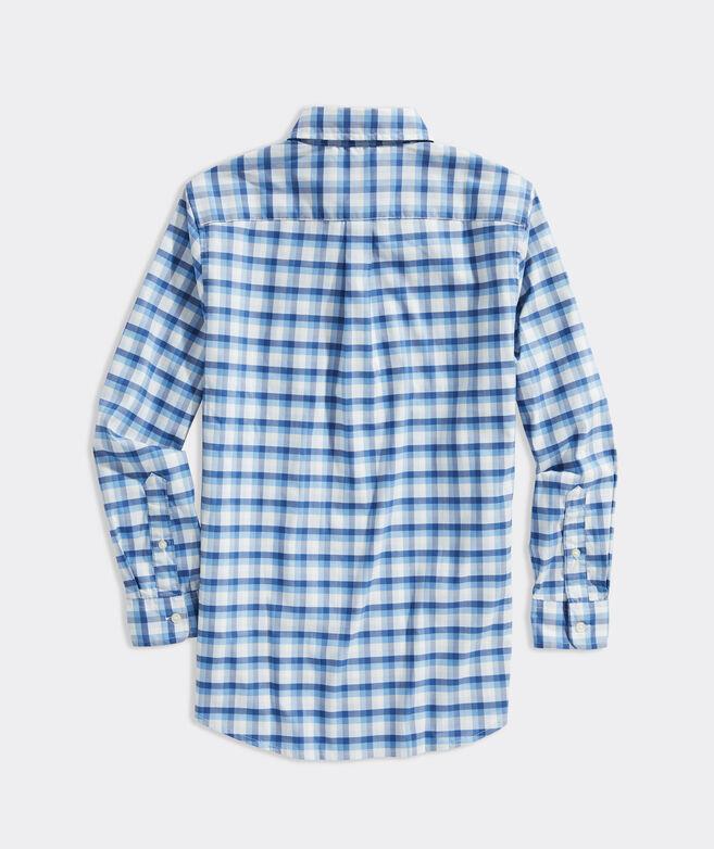 Boys' Plaid Performance Cotton Shirt
