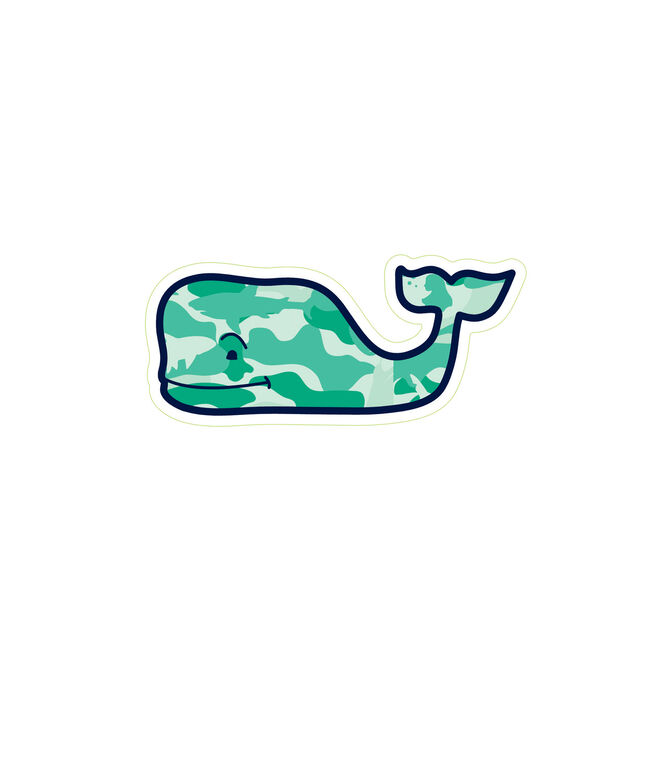 Camo whale sticker pack set of 5