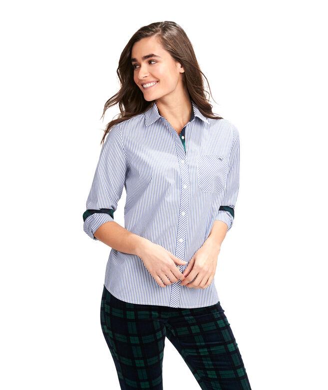 Blackwatch Stripe Chilmark Relaxed Button-Down Shirt