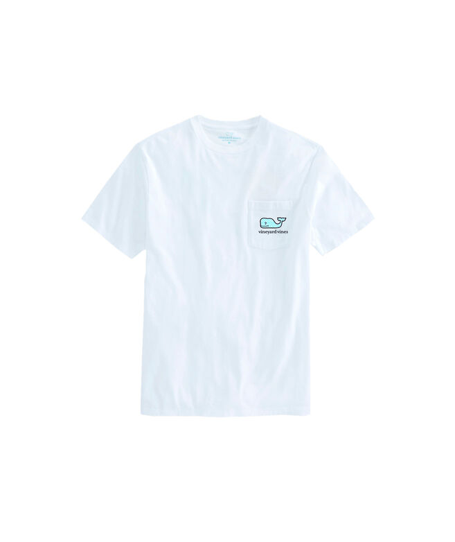 OUTLET Women's Patchwork Whale Fill Short-Sleeve Pocket Tee