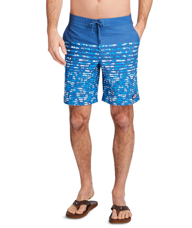 Floral Camo Stripe Stretch Board Shorts