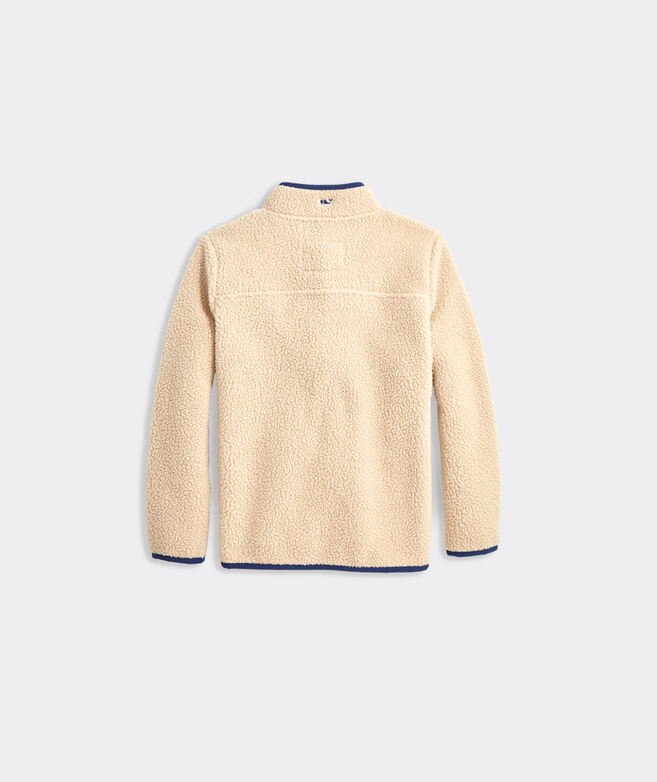 Girls' Snap Placket Sherpa Pullover