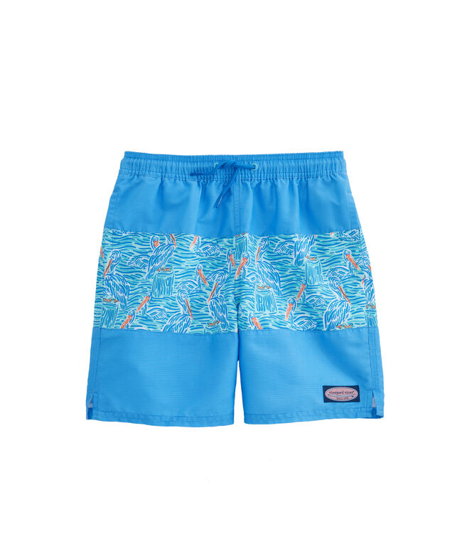 Boys 3-Pieced Pelican Chappy Trunks