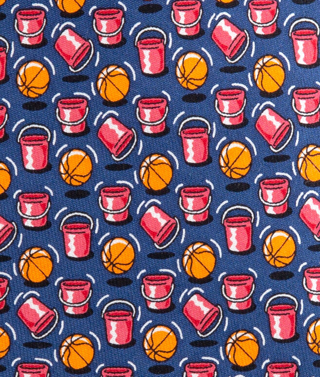 Basketball Buckets Printed Tie
