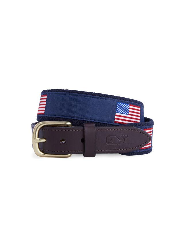 Boys American Flags Canvas Club Belt