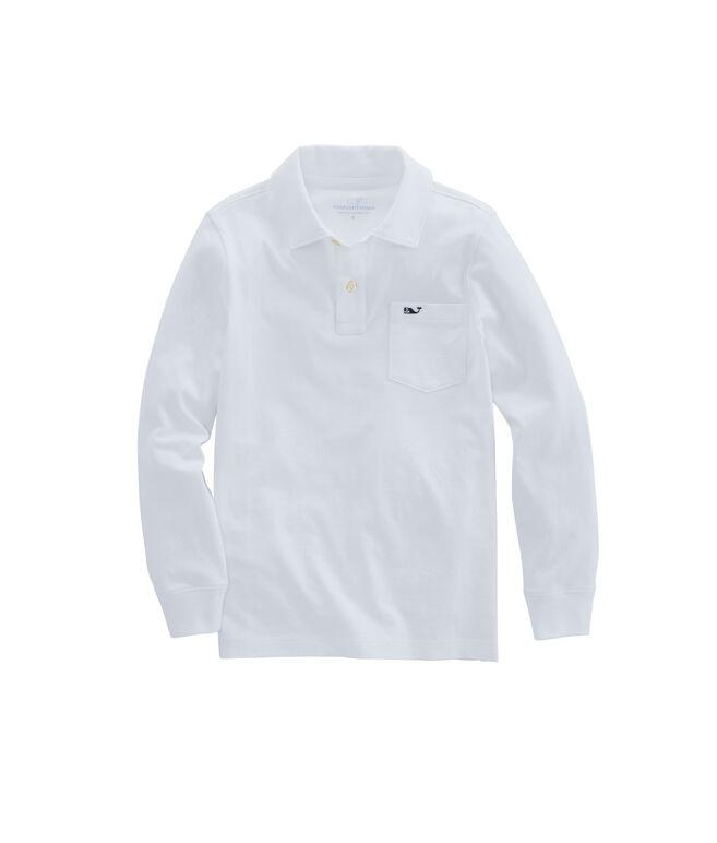 Boys Long-Sleeve Jersey Polo
