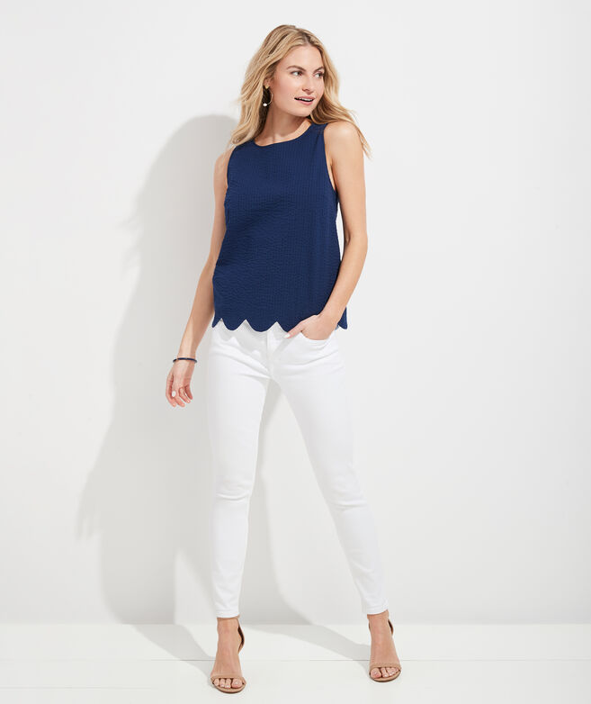 Seersucker Scallop Shell Top