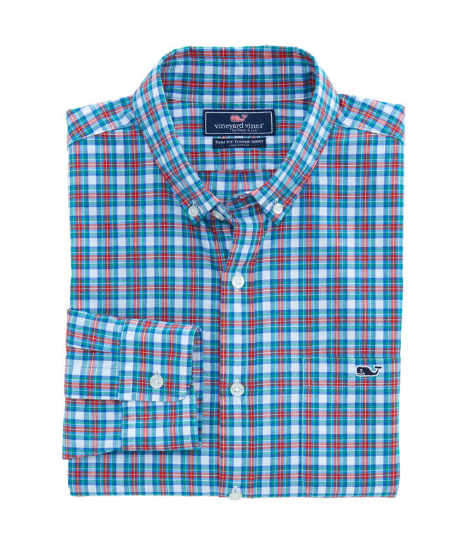 Pine Frost Plaid Slim Tucker Shirt