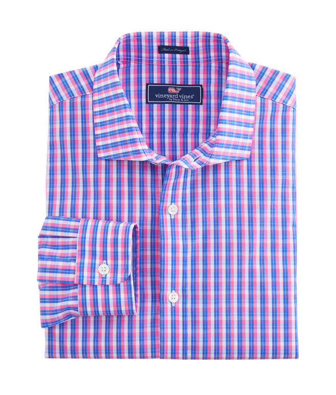 Martinique Plaid Performance Cooper Shirt