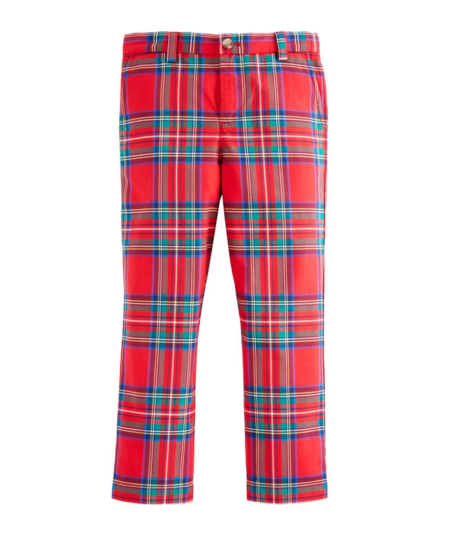 Boys Jolly Plaid Breaker Pants