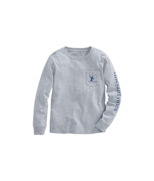 Boys Long-Sleeve Tip-Toe Touchdown Pocket T-Shirt