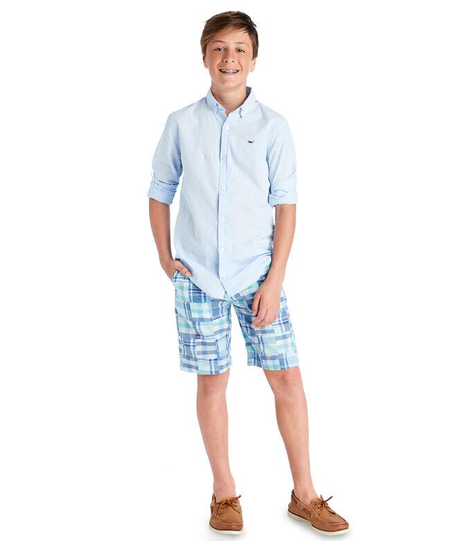 Boys Madras Breaker Shorts