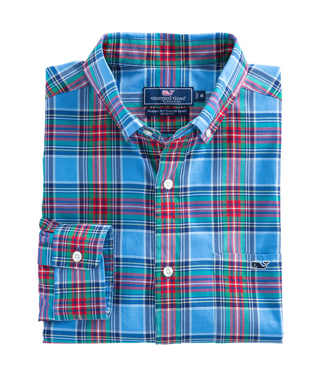 Belmont Plaid Classic Tucker Shirt