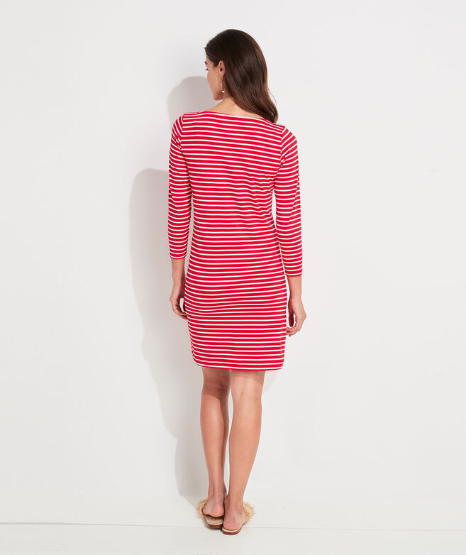 Lightweight Sankaty Stripe Boatneck Shift Dress