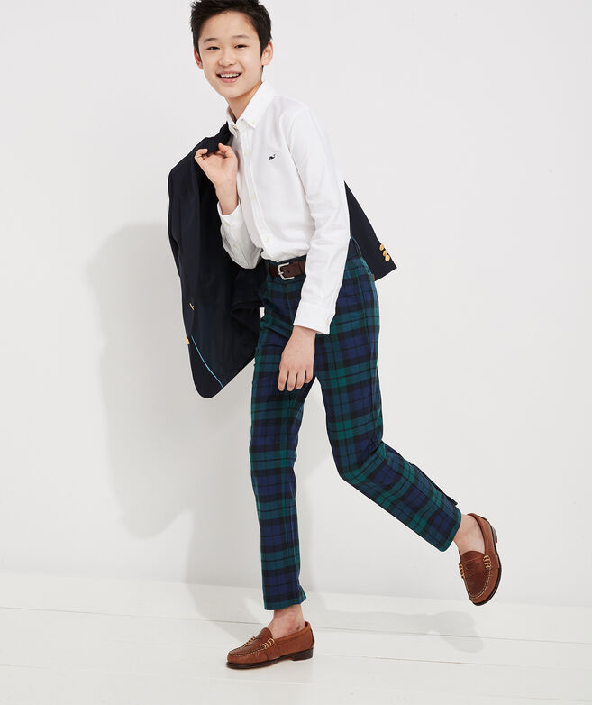 Boys' Holiday Plaid Breaker Pants