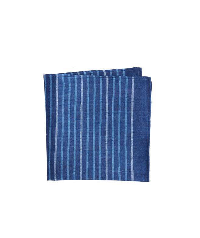 Surfsong Indigo Stripe Woven Pocket Sqaure