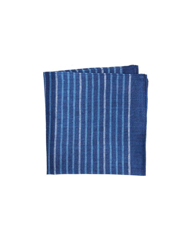 Surfsong Indigo Stripe Woven Pocket Sqaure
